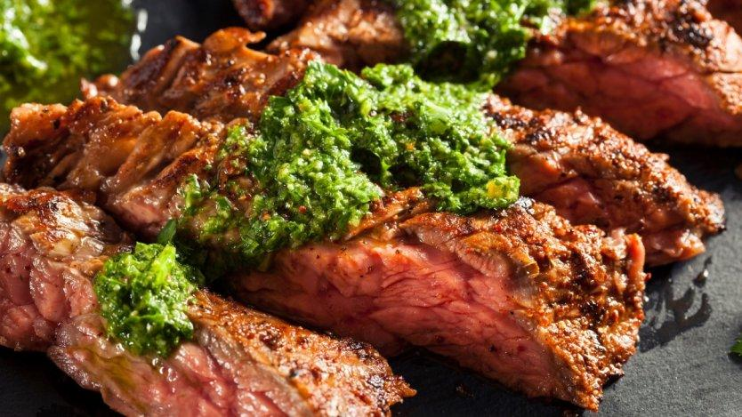 Garlic peppered Flank steak