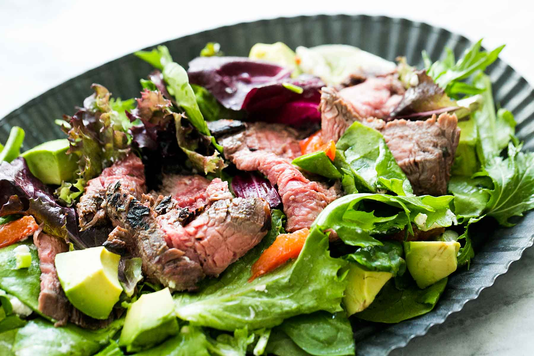 Grilled Steak Mushroom and Rocket Salad