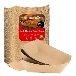 Stock Your Home Eco-FriendlyBrown Paper Food Tray