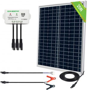 ECO-WORTHY 25W 12V IP65 Solar Panel Charger