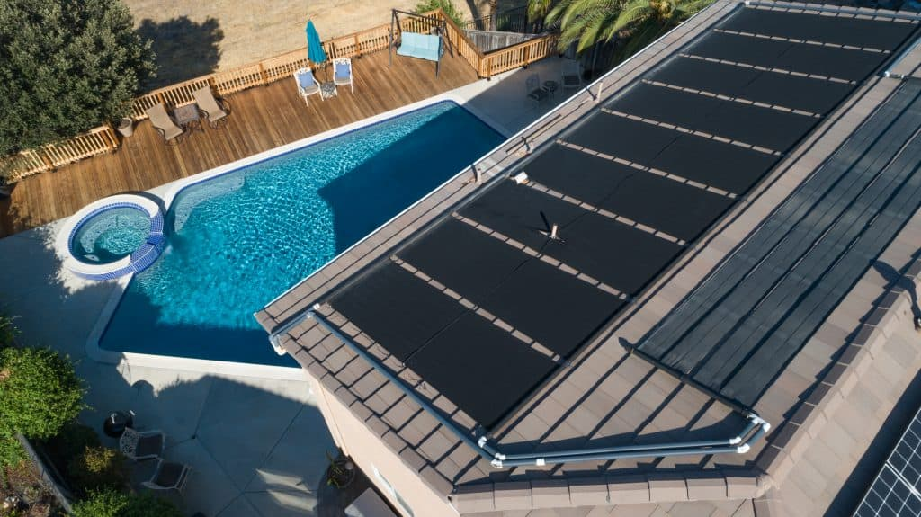 Install Solar Pool Heaters on the Roof