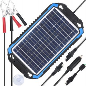 SUPERPOWER 12V Solar Car Battery Charger & Maintainer