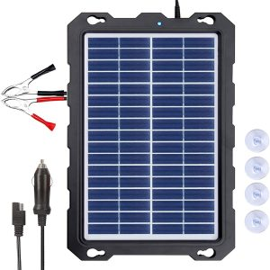 Solar Battery Charger Car, 7.5W 12V Solar Trickle Charger