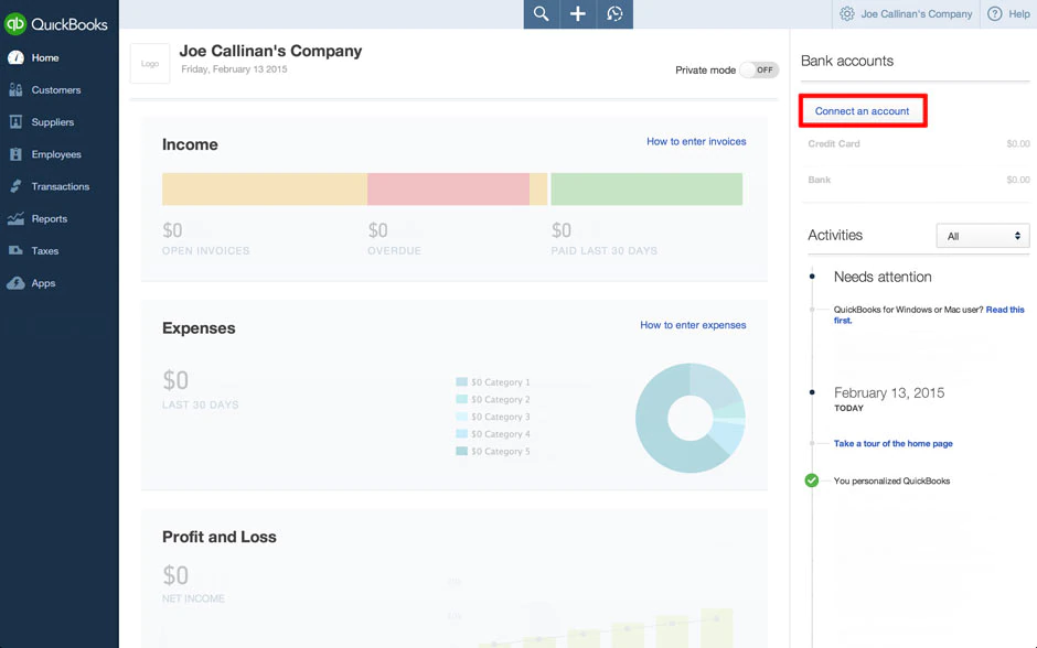 Role of Bank accounts in QuickBooks Services