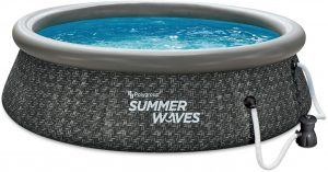 Summer Waves P1A01030A 10ft x 2.5ft Inflatable Outdoor Swimming Pool